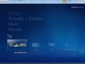 9 . پس از این با باز کردن برنامه ویندوز مدیا سنتر مانند عکس بالا گزینه ی کمرنگ Live TV را انتخاب کنید و از تماشای تلوزیون لذت ببرید